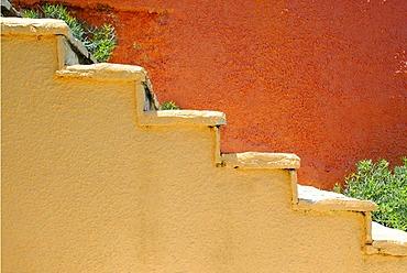 Orange stairs, Fiscardo, Kefalonia, Ionian Islands, Greece