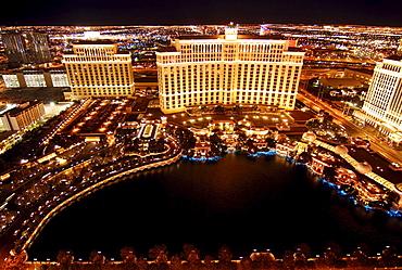 Bellagio Hotel & Casino and Cesar's Palace, Las Vegas Boulevard, Las Vegas, Nevada, USA, North America