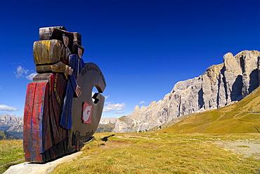Figures wearing national costume, Passo Sella (Sella Pass), Bolzano-Bolzen, Italy