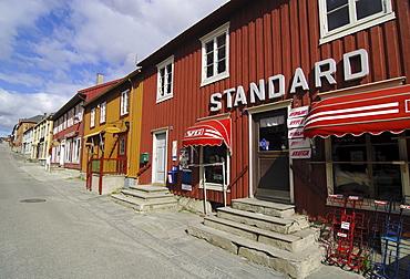 Grocery store in Roeros, iron mining town, UNESCO World Heritage Site, Sor-Trondelag, Norway