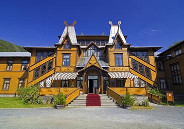 Wooden building, Hotel Dalen, Telemark, Norway