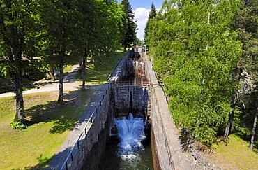 Vrangfoss Lock-Chamber, Telemark Canal, Telemark, Norway