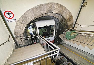 Cog railway, Hohensalzburg Fortress, Salzburg, Austria, Europe