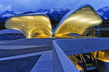 Hungerburgbahn Railway, summit station designed by stararchitect Zaha Hadid, Innsbruck, Tyrol, Austria, Europe