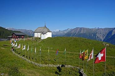 "Chapel ""Maria zum Schnee"", Bettmeralp, Valais, Switzerland, Europe"