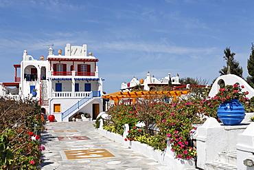 Colourful hotel, Myconos, Greece