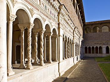 Cloister, Basilica of St John Lateran, Rome, Italy, Europe