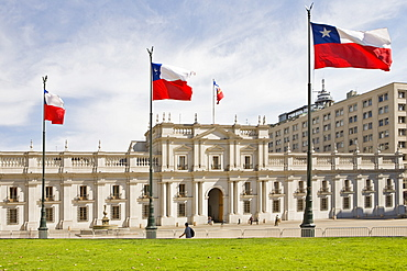 Neoclassical governmental palace La Moneda, Santiago de Chile, Chile, South America
