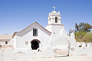 Iglesia San Pedro church in San Pedro de Atacama, Region de Antofagasta, Chile, South America