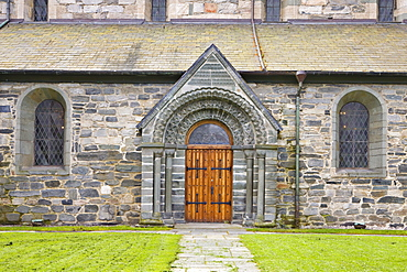 North portal, St. Svithun Cathedral, Stavanger (European Capital of Culture 2008), Norway, Europe