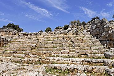 Ruins dating to the fifth century BC (Doric period), Lato, Crete, Greece, Europe