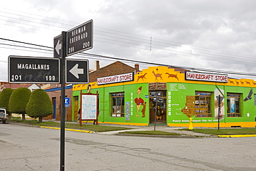Souvenir shop, Puerto Natales, Patagonia, Chile, South America