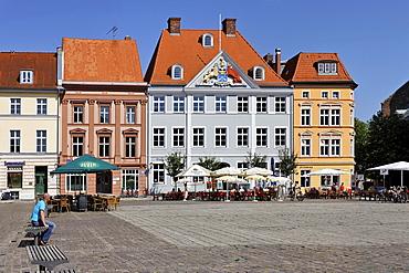 Old Market, Stralsund, Mecklenburg-Western Pomerania, Germany, Europe