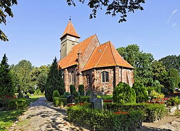St. Catherine's Church in Middelhagen, Ruegen, Germany, Europe