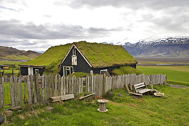 Rustic youth hostel at Fljotsdalur, Iceland, Atlantic Ocean
