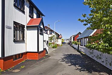 Colourful houses, Isafjoerur, Western Fjord, Iceland, Atlantic Ocean