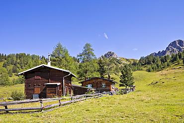 Private mountain lodge near the Filzmoosalm alpine pasture, Grossarltal, Salzburg, Austria, Europe
