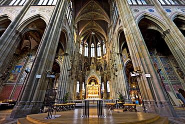 Altar at Votivkirche Church, neo-Gothic basilica in Vienna, Austria, Europe