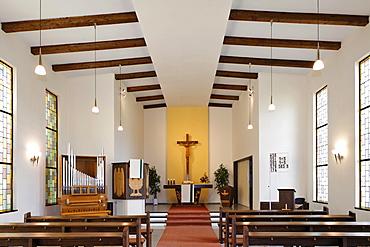 Interior view of the Protestant church in Berndorf, Triestingtal, Lower Austria, Austria, Europe