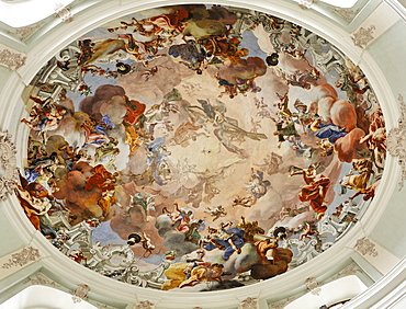 Dome frescoes, Baroque pilgrimage church in Hafnerberg, Triesingtal (Triesing Valley), Lower Austria, Austria, Europe
