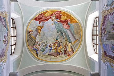 Ceiling mural, Mariazell Cloister, Klein-Mariazell, Triestingtal (Triesting Valley), Lower Austria, Austria, Europe