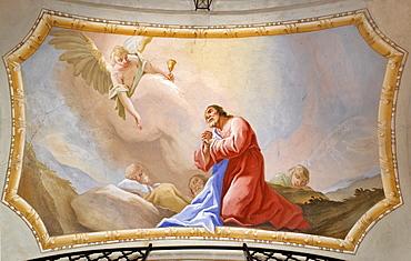 Fresco featuring Christ on Mount Olivet, Thenneberg, Triestingtal, Lower Austria, Austria