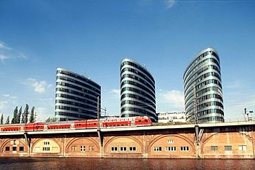 Trilogy office tower, Friedrichshain, Berlin, Germany