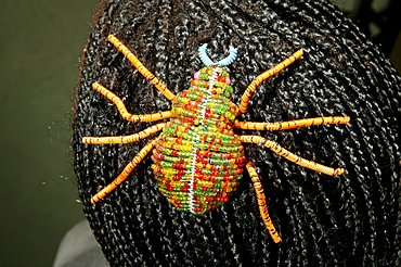 Hair decoration made of glass beads, spider, Cape Town, South Africa