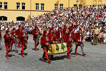 Court musicians, Landshut Wedding historical pageant, Landshut, Lower Bavaria, Bavaria, Germany, Europe