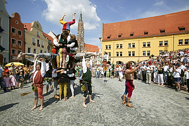 Landshut Wedding historical pageant, Landshut, Lower Bavaria, Bavaria, Germany, Europe