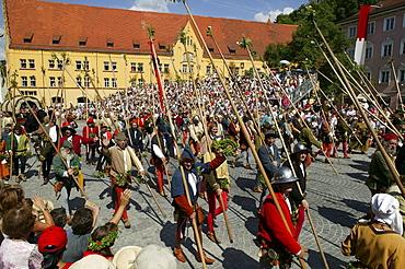 Infantry, Landshut Wedding historical pageant, Landshut, Lower Bavaria, Bavaria, Germany, Europe