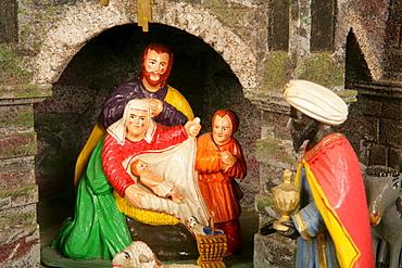 Bohemian nativity scene, Rott am Inn, Upper Bavaria, Bavaria, Germany, Europe
