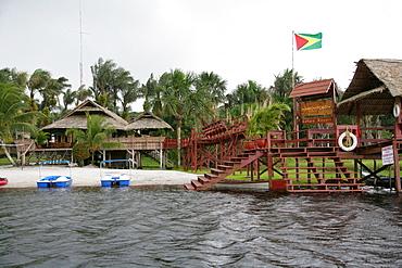 Boat docking area, Santa Mission, Guyana, South America
