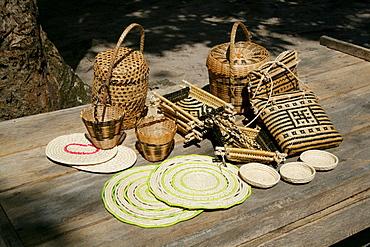 Arawak tribe woven handicrafts, Santa Mission, Guyana, South America