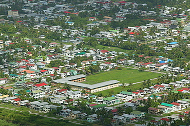 Aerial view of a housing development in Georgetown, Guyana, South America