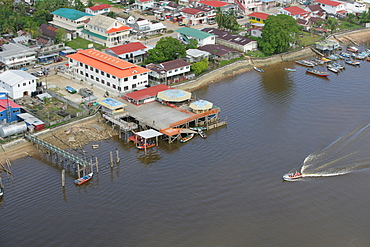 Ferry docks, Demerara River, Georgetown, Guyana, South America