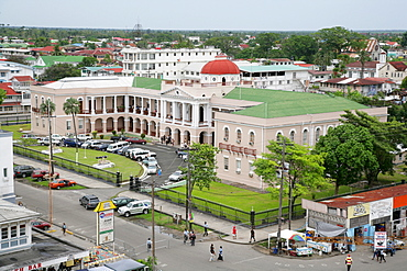 View of government buildings in Georgetown, Guyana, South America