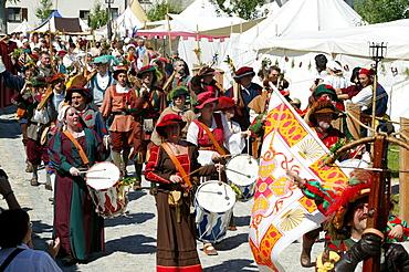 Medieval festival, Burghausen, Upper Bavaria, Bavaria, Germany, Europe