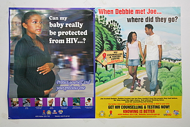 Sex education ads, HIV/AIDS awareness, Guyana, South America