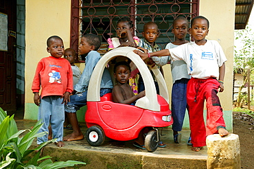 AIDS orphans at an orphanage, Cameroon, Africa