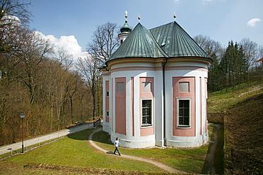 Maria Brunn Church, Baroque church and pilgrimage site, Tittmoning, Upper Bavaria, Bavaria, Germany, Europe