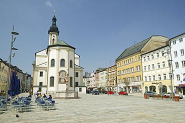 St. Oswald's Church in Traunstein, Upper Bavaria, Bavaria, Germany, Europe