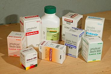 Retroviral medication, HIV/AIDS blockers, medication, Garoua, Cameroon, Africa