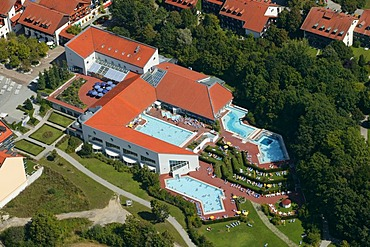 Thermal baths, Bad Griesbach, aerial photo, Lower Bavaria, Bavaria, Germany, Europe