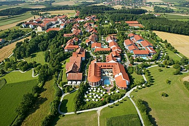 Thermal landscape, Bad Griesbach, aerial photo, Lower Bavaria, Bavaria, Germany, Europe