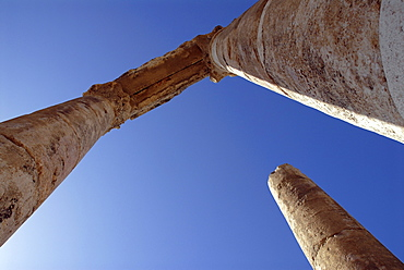 Detail of the Roman Temple of Hercules, Jebel al-Qala, Amman, Jordan