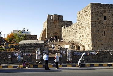 Entrance to the desert castle Qasr Azraq, Jordan