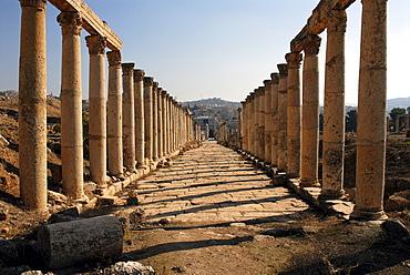 Ruins in Jerash, the ancient Gerasa, Jordan