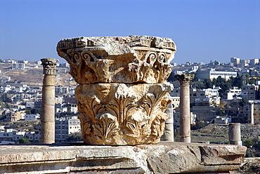 Ruins of the Roman Temple of Artemis, Jerash, the ancient Gerasa, Jordan