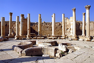 Macellum (food market) of Jerash, the ancient Gerasa, Jordan
